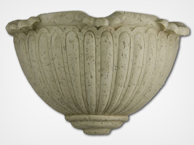 Scalloped Sconce-Bianco