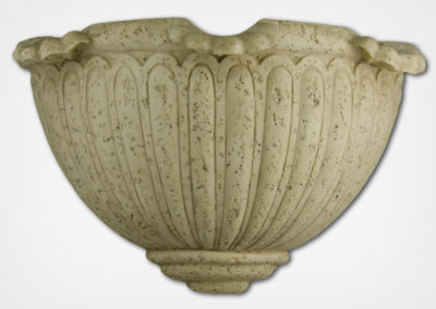Scalloped Sconce-Travertine