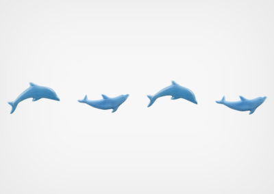 Dolphin – Step Markers – Blue – 24×3