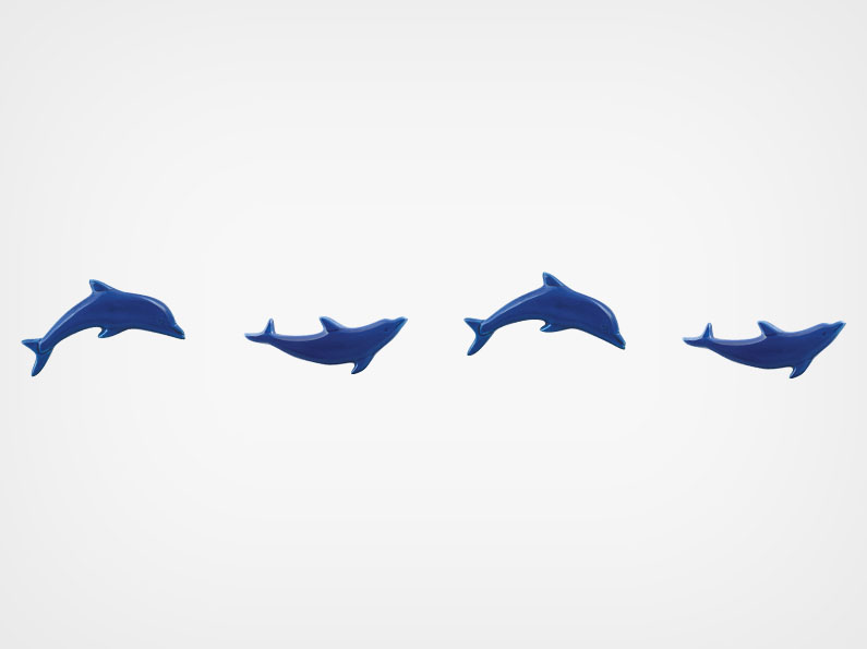 Dolphin – Step Markers – Royal Blue – 24×3