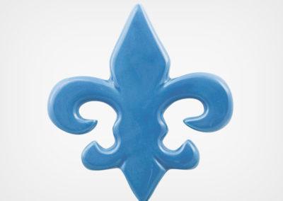 Fleur de Lis – Blue – 5×5