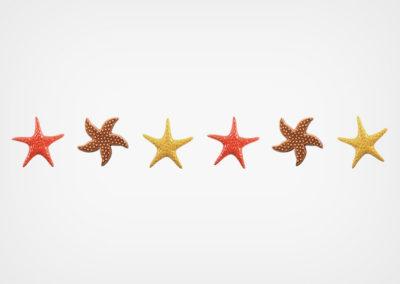 Starfish Blend – Step Marker – Red – 24×3