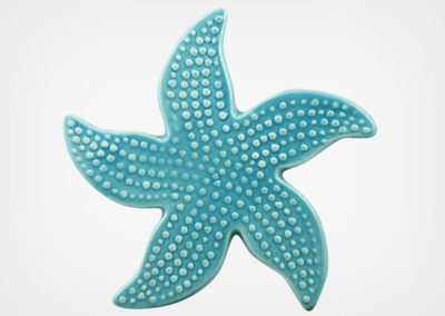 Starfish Spotted – Aqua – 5×5