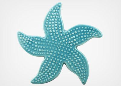 Starfish Spotted – Aqua – 5×5
