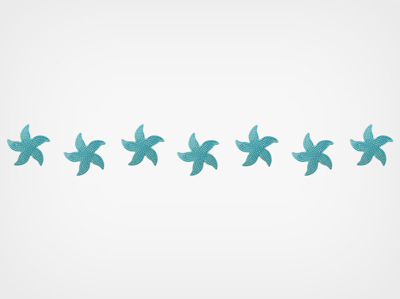 Spotted Starfish – Step Markers – Aqua – 24×3