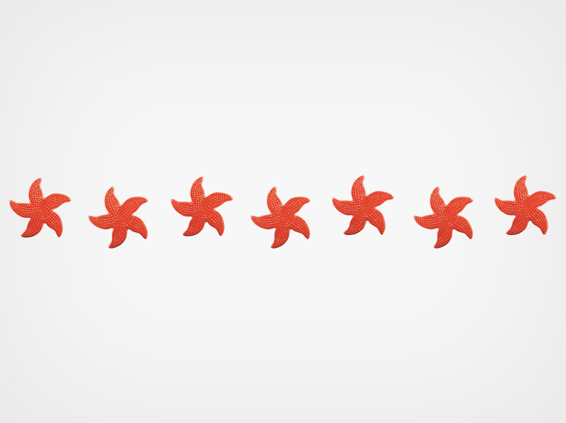 Spotted Starfish – Step Markers – Red – 24×3