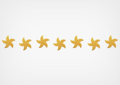 Spotted Starfish – Step Markers – Sand – 24×3