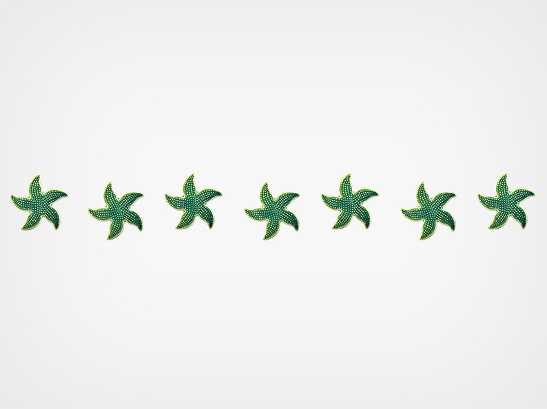 Spotted Starfish – Step Markers – Teal – 24×3