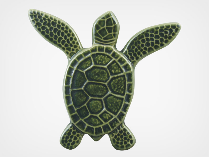 Turtle Both Up – Green – 5×5