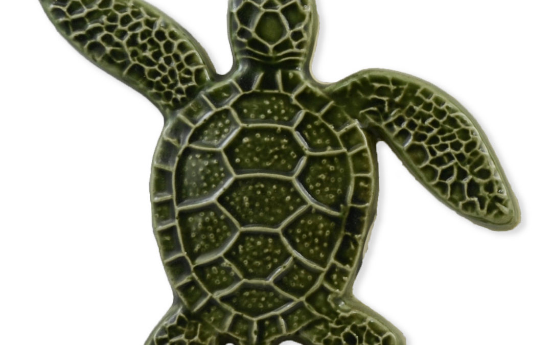 Turtle Left Up – Green – 5×5