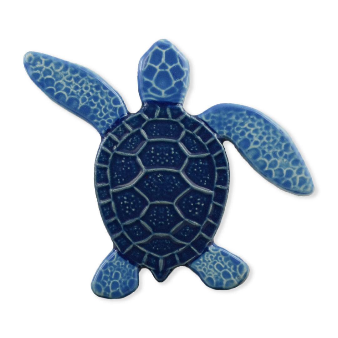 Turtle Left Up – Blue – 5×5