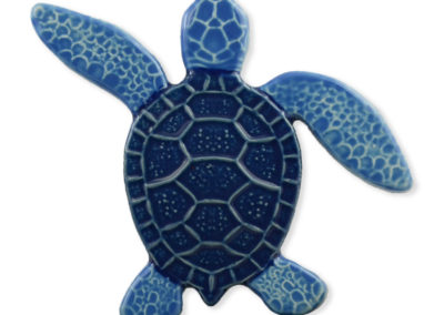 Turtle Left Up – Blue – 5×5
