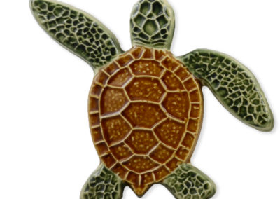 Turtle Left Up – Natural – 5×5