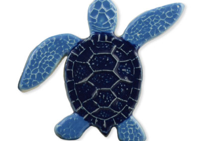 Turtle Right Up – Blue – 5×5